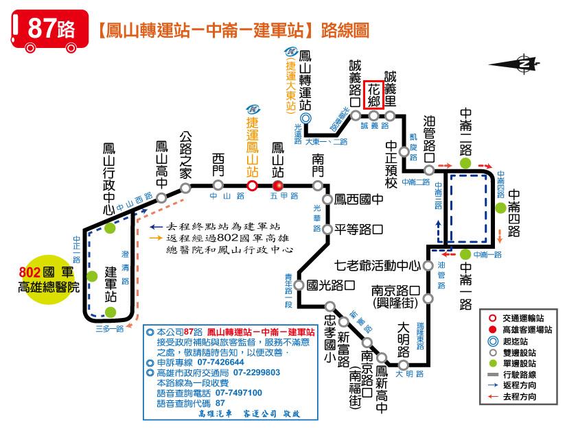 87路公車路線圖